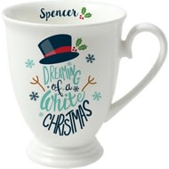 Personalised White Christmas Marquee Ceramic Mug
