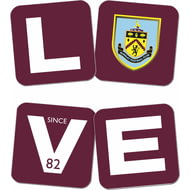 Personalised Burnley FC Love Coasters (x4)