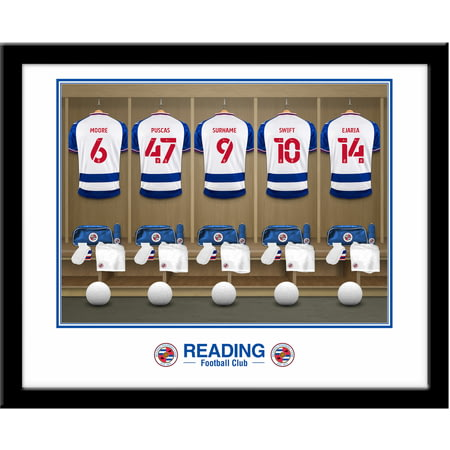 Personalised Reading FC Dressing Room Shirts Framed Print