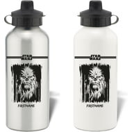 Personalised Star Wars Chewbacca Paint Aluminium Sports Water Bottle