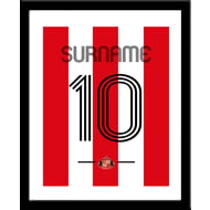 Personalised Sunderland AFC Retro Shirt Framed Print