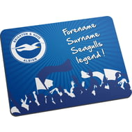 Personalised Brighton & Hove Albion FC Legend Mouse Mat
