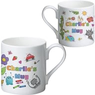 Personalised Cartoon Character Childrens Ceramic Mug