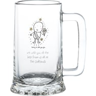 Personalised Chilli & Bubble's Leaving Glass Stern Tankard
