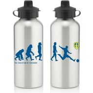 Personalised Leeds United FC Player Evolution Aluminium Sports Water Bottle