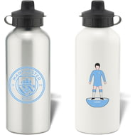 Personalised Manchester City FC Player Figure Aluminium Sports Water Bottle