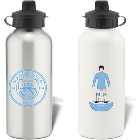 Personalised Manchester City FC Player Figure Water Bottle