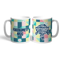 Personalised Powerpuff Girls Buttercup Silhouette Mug
