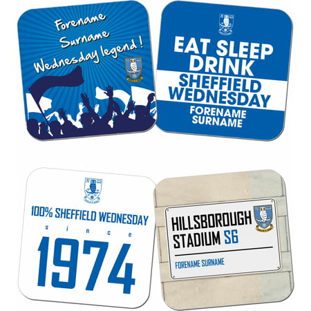 Personalised Sheffield Wednesday FC Coasters