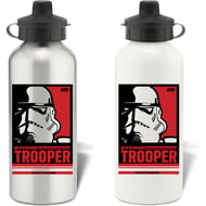 Personalised Star Wars Storm Trooper Pop Art Aluminium Aluminium Sports Water Bottle