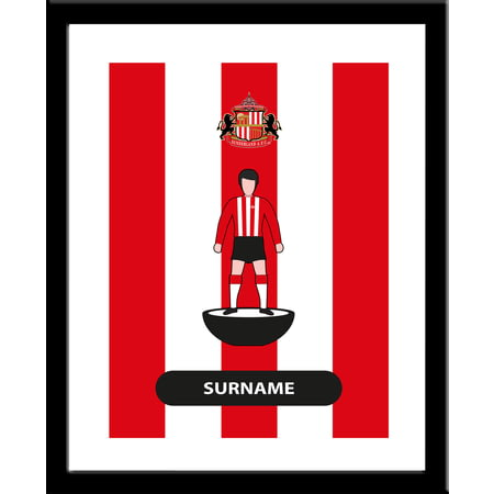Personalised Sunderland AFC Player Figure Framed Print
