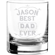 Personalised Best Ever Glass Tumbler
