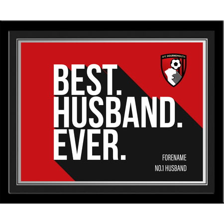 Personalised Bournemouth Best Husband Ever 10x8 Photo Framed