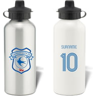 Personalised Cardiff City Retro Shirt Water Bottle