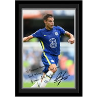 Personalised Chelsea FC Azpilicueta Autograph Photo Framed
