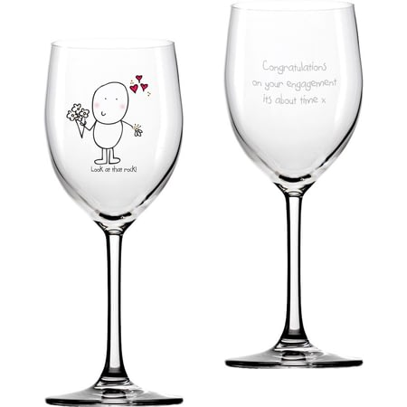 Personalised Chilli & Bubble's Engagement Wine Glass