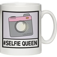 Personalised #Selfie Ceramic Mug