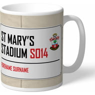 Personalised Southampton FC Street Sign Mug