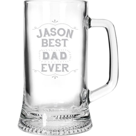 Personalised Best Ever Glass Stern Tankard