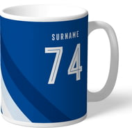 Personalised Birmingham City Stripe Mug