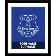 Personalised Everton FC Bold Crest Framed Print