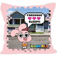 Personalised Gumball Anais Pink Cushion - 45x45cm