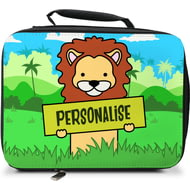 Personalised Kids Lion Insulated Lunch Bag