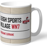 Personalised Leigh Centurions Leigh Sports Village Street Sign Mug