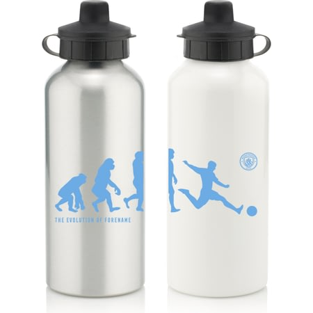 Personalised Manchester City FC Player Evolution Aluminium Sports Water Bottle