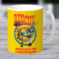 Personalised Toy Story 4 Rescue Squad Ceramic Mug