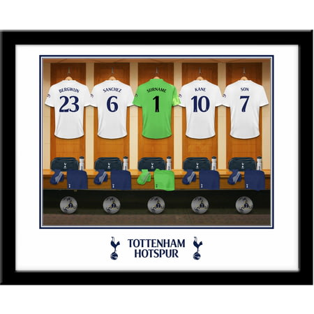 Personalised Tottenham Hotspur FC Goalkeeper Dressing Room Shirts Framed Print