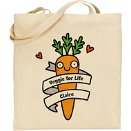Personalised Veggie For Life Tote Bag