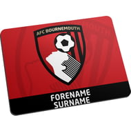Personalised AFC Bournemouth Bold Crest Mouse Mat