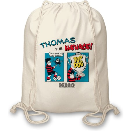 Personalised Beano Classic Comic Strip Top Dog Tote Bag