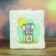 Personalised Elephant Safari Ceramic Message Card