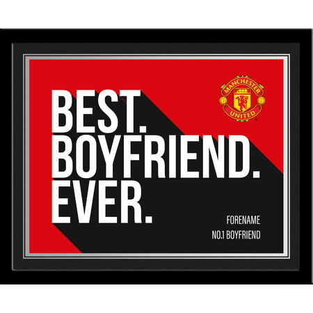 Personalised Manchester United Best Boyfriend Ever 10x8 Photo Framed