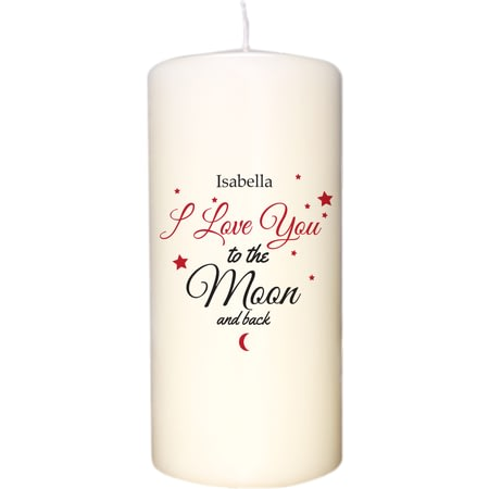 Personalised To The Moon & Back Candle