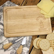 Personalised Wallace & Gromit 'Crackers About Cheese' Wooden Rectangle Cheese Board