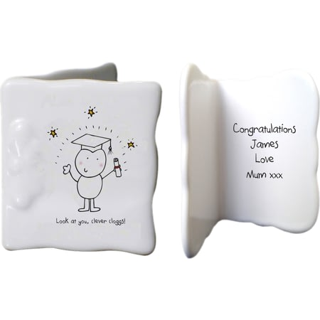 Personalised Chilli & Bubbles Graduations Ceramic Message Card