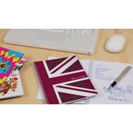 Personalised Pink Union Jack Notebook