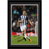 Personalised West Bromwich Albion FC Evans Autograph Photo Framed