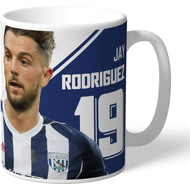Personalised West Bromwich Albion FC Rodriguez Autograph Mug