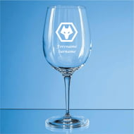 Personalised Wolves FC Crest 480ml Wine Glass