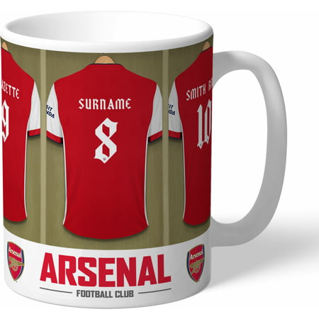 Personalised Arsenal FC Dressing Room Shirts Mug