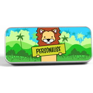 Personalised Kids Lion Pencil Tin