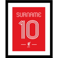 Personalised Liverpool FC Retro Shirt Framed Print