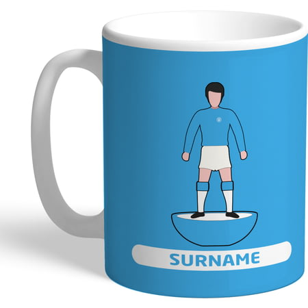 Personalised Manchester City FC Player Figure Mug