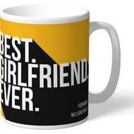 Personalised Wolves FC Best Girlfriend Ever Mug