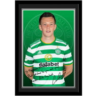 Personalised Celtic FC McGregor Autograph Photo Framed