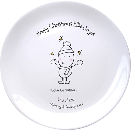 Personalised Chilli & Bubble's Generic Christmas Plate
